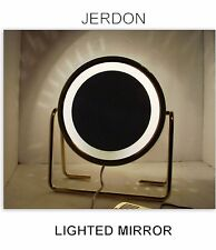 Jerdon Lighted Magnifying Makeup Mirror Gold MODEL HL-15