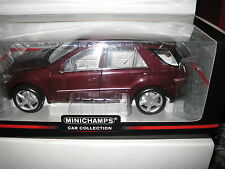 1.18 MINICHAMPS MERCEDES BENZ M CLASS 2005 RED METALLIC AWESOME LOOKING MODEL