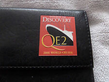 CUNARD QUEEN ELIZABETH 2 QE2 WORLD CRUISE TICKET HOLDER VOYAGE OF DISCOVERY