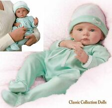 "Ashton Drake ""SO PRECIOUS PEYTON"" LIFELIKE POSEABLE NEWBORN BABY DOLL - NEW"