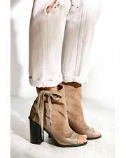 Kelsi Dagger Brooklyn Bowie Suede Peep Toe Boot Size 9.5 Urban Outfitters