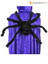 Giant Furry Spider Halloween Decoration Fancy Dress Party Prop 75cm Poseable