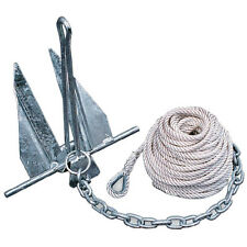 Danforth 10 lbs Hooker Quik Set Anchor Kit w/ Chain & Line 20'-24' Boat