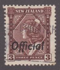 New Zealand 1938 #O66 Official Overprint on 3p Used