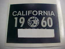 1960 california license plate registration yom sticker for the 1956 plates