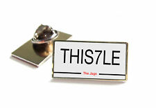 PARTICK THISTLE NUMBER PLATE STYLE LAPEL PIN BADGE TIE TACK GIFT