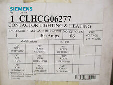 Siemens CLHCG06277 Enclosed Lighting And Heating Contactor *New In Box*