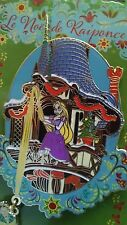 Disney Pins The Christmas of Rapunzel  Rapunzel and Flynn Tower Paris Pin LE 400