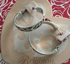 Brighton Silver CONTEMPO HOOP Earrings NWT