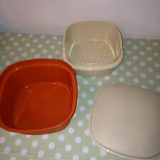 Retro Tupperware Salad Crisper / Rice or Veg Steamer / Storage Container