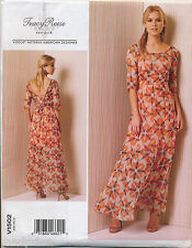 ©2016 VOGUE SEWING PATTERN 1502 MISSES 14-22 LINED MAXI DRESS W/ SCOOP NECKLINE