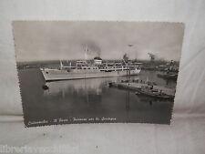 Vecchia cartolina foto d epoca di Civitavecchia il porto partenza per Sardegna