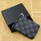 Mens leather fashion classic USD money clips dollar price Business casual wallet