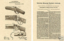 WINCHESTER 1885 Single Shot Rifle PATENT Art Print READY TO FRAME!! Browning