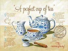 Tea,Cocina Vintage,Café Tienda Antigua,Alimentos Receta,Grande De Metal/
