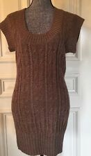 Forever Women's Long Sweater Dress Size M Color  Brown