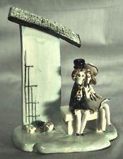 COUPLE d'AMOUREUX genre AMOUREUX de PEYNET sur un banc en CERAMIQUE ANNEES 50's