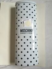 BNIB Moschino Cheap And Chic Cream Compact Automatic Umbrella In Gift Tin!