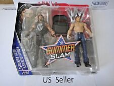 WWE Summer Slam 2015 Roman Reigns and Dean Ambrose Figure 2 Pack US Seller