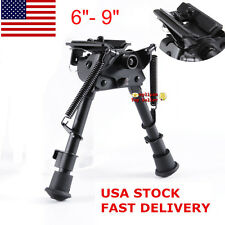 "US Metal Rotate 6""- 9"" Spring Return Bipod&Sling Swivel For Rifle Scope Hunting"