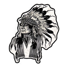 NEW Apache Indian Native American Big Size Motobike Applique Sew On Patch Jacket