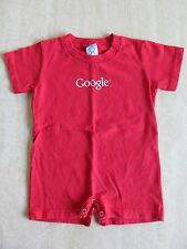 "RABBIT SKINS ""GOOGLE"" Baby Infant Red One Piece Bodysuit Creeper 18M Cotton NWOT"