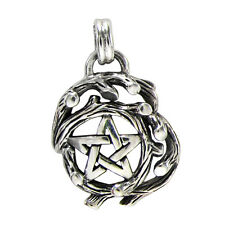 Sterling Silver Small Tree Branch Pentacle Pentagram Nature Pagan Druid Pendant