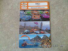 CARTE FICHE CINEMA 2011 CARS 2 DISNEY