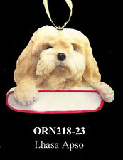 "Lhasa Apso Christmas Ornament ""Santa's Pals"" Personalized Name Plate #23"