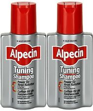 2 ALPECIN TUNING SHAMPOO 2 x 200ML STRENGTHENS NATURAL HAIR COLOUR