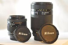 Nikon AF Nikkor 35-70mm 70-210mm 2 FX lens SET for D610 D750 D810 D800 D7200 DF