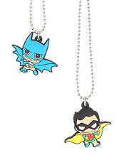 DC Comics Batman & Robin Necklace Friendship Best Friends BFF Chibi Kawaii NWT