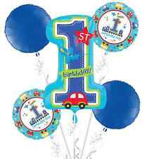 All Aboard BOY 1st Birthday Balloon Bouquet 5pc Party Decoration Favor Supplies