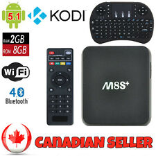 M8S+ Amlogic Quad Core Android 5.1 Smart TV Box 2G/8G 4K HDMI Kodi W/ Keyboard