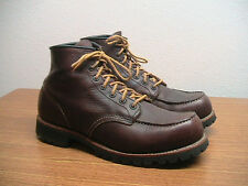 "Mens 10 Red Wing 4183 (8146) Roughneck Brown 6"" Moc Toe Work Boots, Excellent!!"
