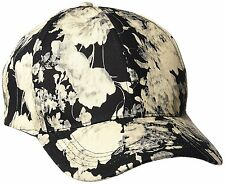 D&Y Womens Vintage Water Color Flower Print Baseball Cap, Black, One Size