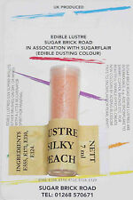 Sugarflair Silky Peach Lustre Dust Powder 7ml Edible Sparkly Colour Tint