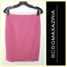 BCBG/Max Azria $225 rose pink felted wool pencil skirt~6