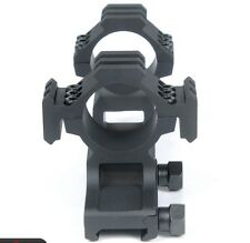 Tactical (Black 1 inch) Dual Tri-Rail Cantilever Ring Scope Mount PEPR