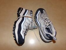 Skechers Sport White Gray Navy Women's Shoes size 8