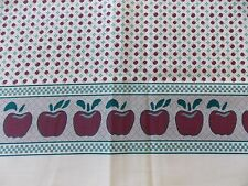WtW Fabric Vintage Benartex Apple Fruit Kitchen Food Floral Border Nicole Quilt