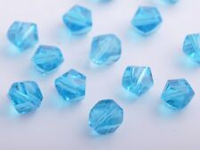50pcs 8mm Twist Helix Glass Crystal Findings Loose Spacer Beads Charms Sky Blue