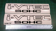 Honda I-Vtech 12inch SOHC Decal Stickers Set of 2 Civic Accord Prelude CRX