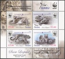 Kyrgyzstan 2013 WWF/Snow Leopard/Cats/Animals/Nature/Wildlife 4v m/s (s2216b)