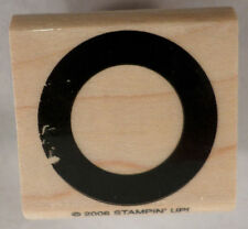 Stampin Up Postal Stamp Portal Ring Rivit Bold 2006 Wooden Rubber Stamp