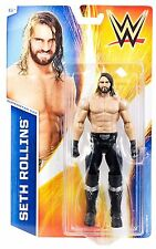 WWE SETH ROLLINS FIGURE 2015 SERIES 50 WRESTLING SHIELD UPDATED AUTHORITY CHAMP