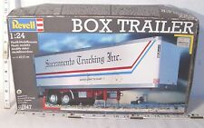 REVELL BOX TRAILER SEMI TRUCK MODEL KIT BOXED 1/24TH SCALE BOXED SEALED