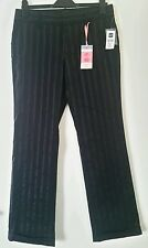 Gap Strech women's trousers size uk 14 f 44 us 10 black with shiny stripe New