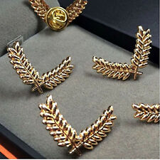 Alloy Metal Carved Rice Shirt Collar Point Clip Jewelry Brooch Pin Tip Gold