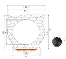 Meterware Moosgummi Dichtungsprofil Dichtprofi mit 3M Selbstklebefolie Klebeband